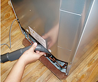 冷蔵庫の冷却部クリーニング